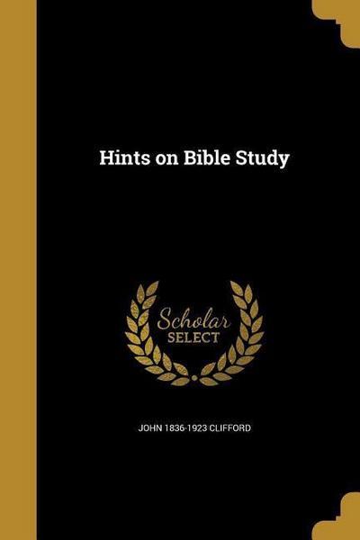 HINTS ON BIBLE STUDY
