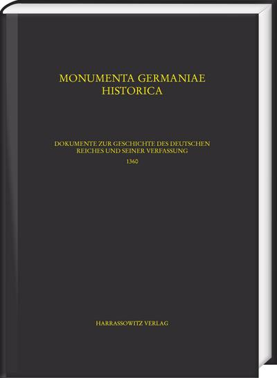 Constitutiones 13: Karl IV. (1360-1361) Teil 1: 1360