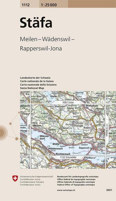 Swisstopo 1 : 25 000 Stäfa
