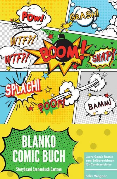 Blanko Comic Buch Storyboard Szenenbuch Cartoon Leere Comic Raster zum Selberzeichnen für Comiczeichner