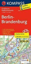 KOMPASS Großraum-Radtourenkarte Berlin-Brandenburg 1 : 125 000