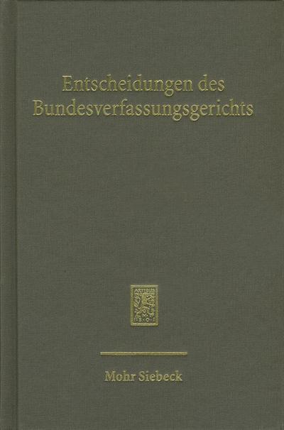 Entscheidungen des Bundesverfassungsgerichts (BVerfGE): Band 124