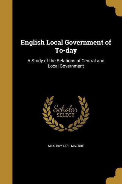 ENGLISH LOCAL GOVERNMENT OF TO