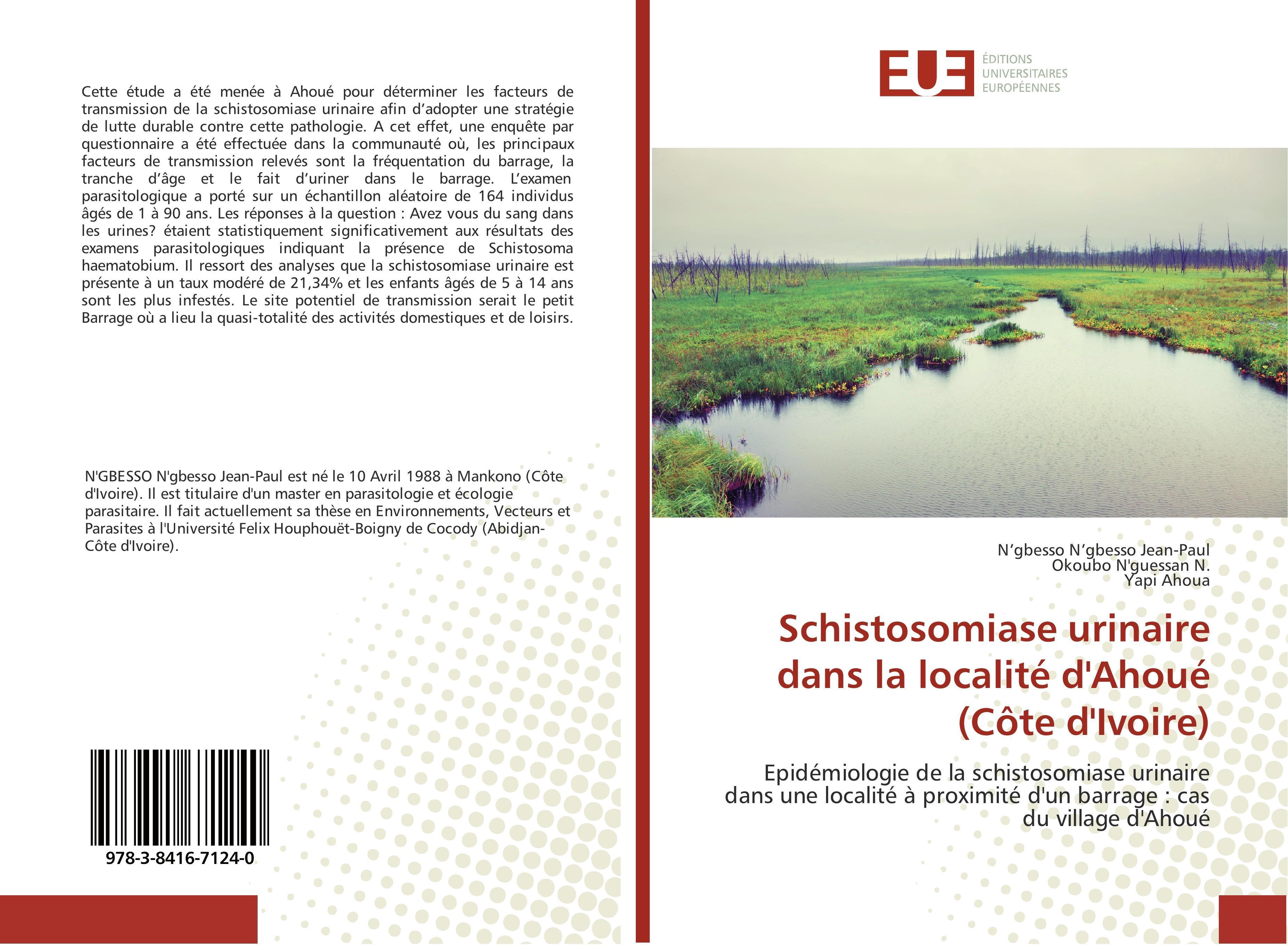 Schistosomiase urinaire dans la localité d'Ahoué (Côte d'Ivoire) N'gbesso N ...