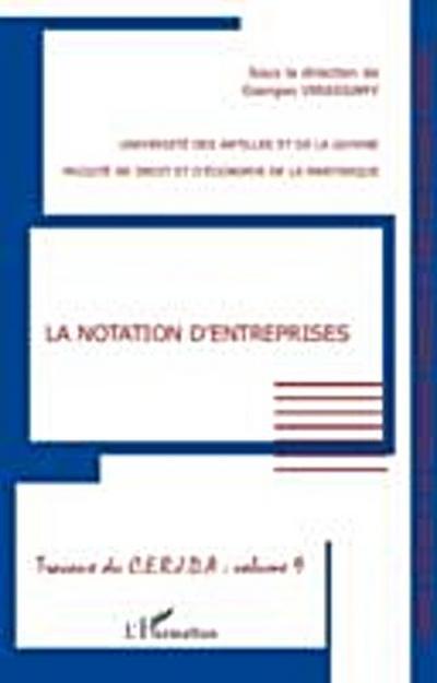 Notation d'entreprises La vol9