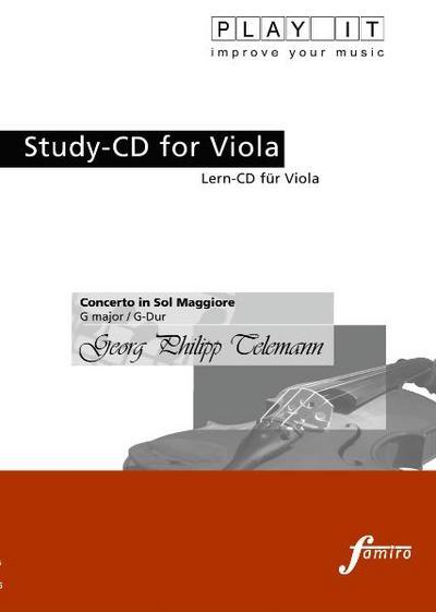 Study-CD for Viola -Concerto In Sol Maggiore,G-Dur
