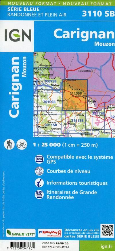 Carignan Mouzon 1:25 000