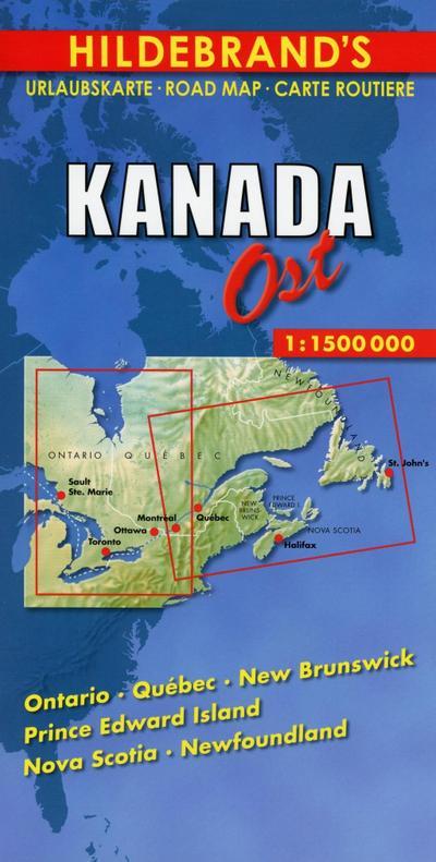 Kanada ( Canada) Ost 1 : 1 500 000 / Hildebrand's Urlaubskarte