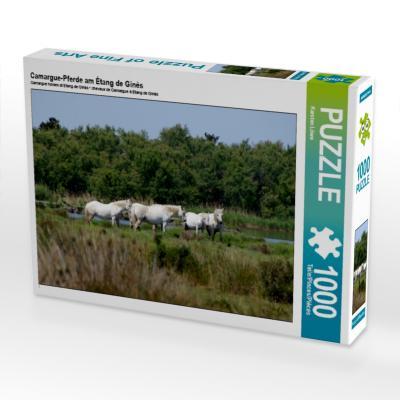 Camargue-Pferde am Étang de Ginès (Puzzle)
