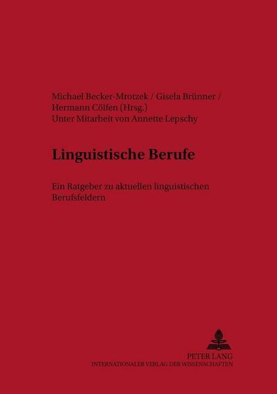 Linguistische Berufe
