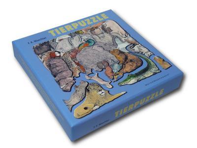 Tierpuzzle (Puzzle) - Metermorphosen - Spiel, Deutsch, F. K. Waechter, Nach einer Zeichnung von F. K. Waechter, Nach einer Zeichnung von F. K. Waechter