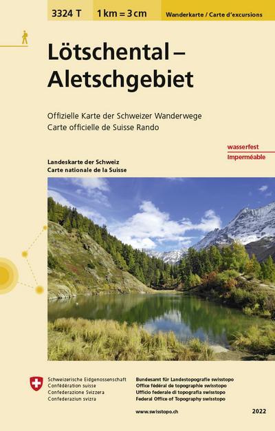 Swisstopo 1 : 33 333 Lötschental Aletschgebiet