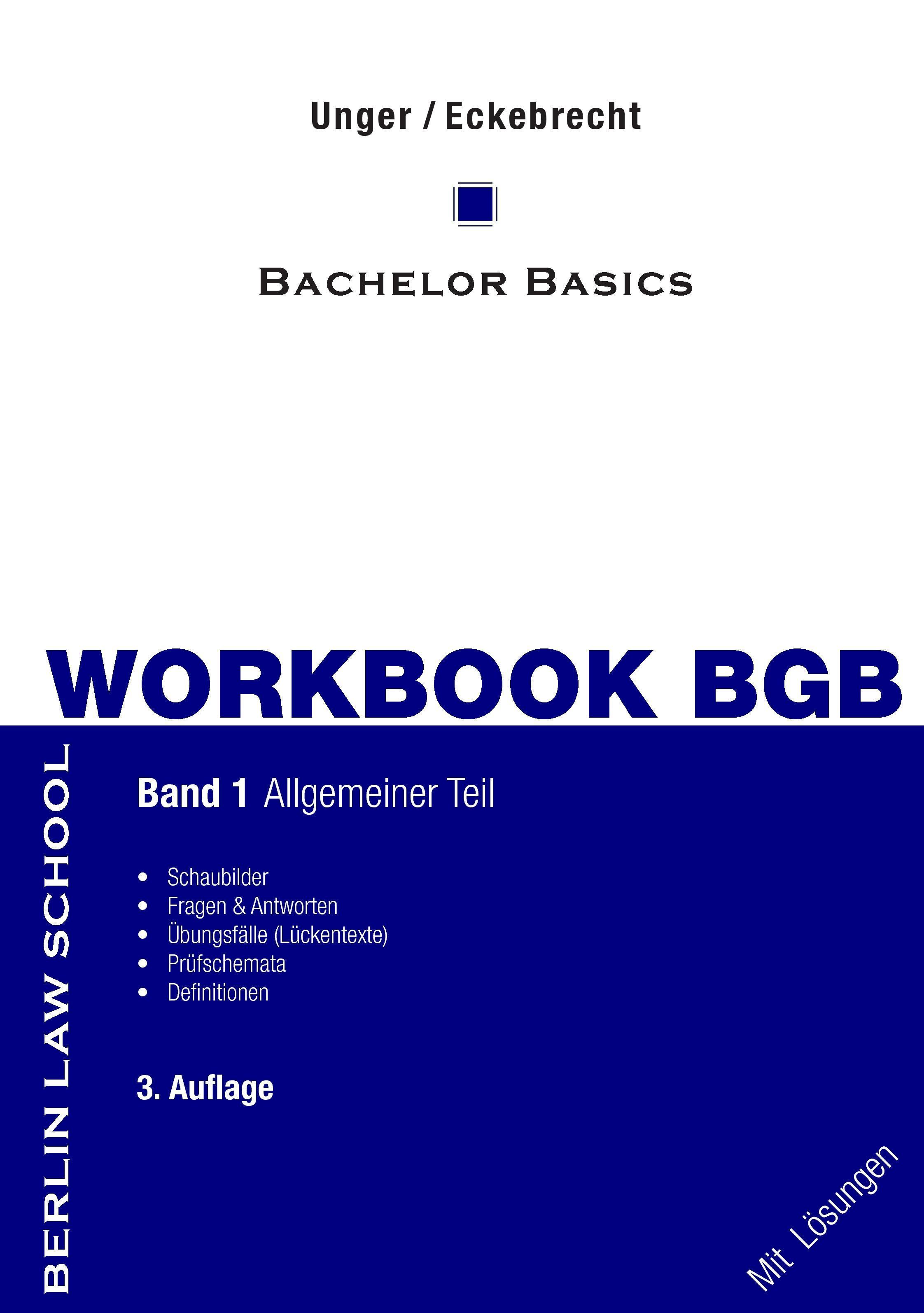 Workbook BGB Band I Werner Unger