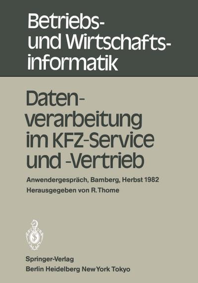 Datenverarbeitung im KFZ-Service und -Vertrieb
