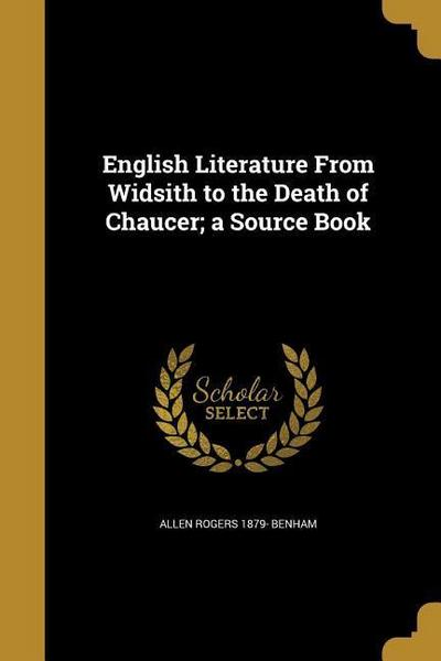 ENGLISH LITERATURE FROM WIDSIT