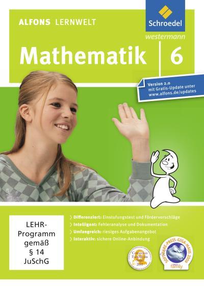 Alfons Lernwelt Lernsoftware Mathematik 6. DVD-ROM für Windows 7; Vista; XP und Mac