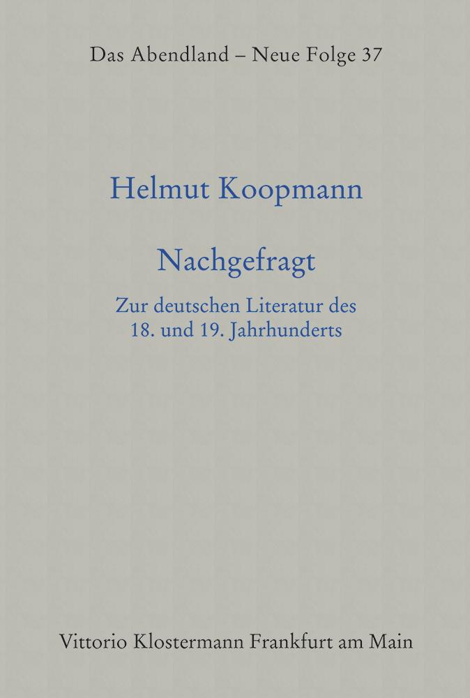Nachgefragt Helmut Koopmann