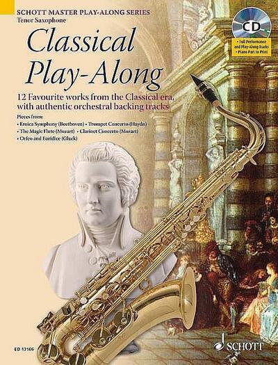 Classical Playalong (+CD) : für Tenorsaxophon  (Klavierbegleitung als PDF zum Ausdrucken)