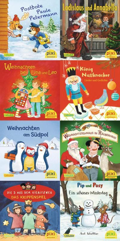 Pixi-Weihnachts-8er-Set 34: ABC, Pixi lief im Schnee (8x1 Exemplar)