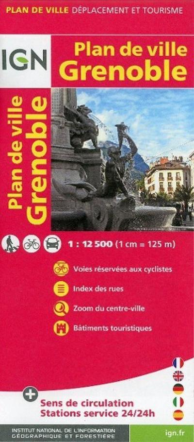 Grenoble Plan de Ville 1 : 12 500