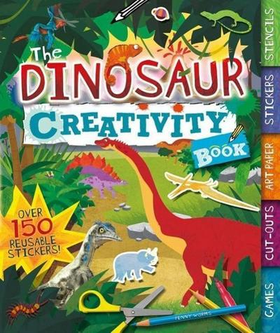 The Dinosaur Creativity Book: Games, Cut-Outs, Art Paper, Stickers, and Stencils
