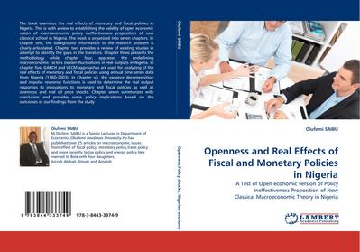 Openness and Real Effects of Fiscal and Monetary Policies in Nigeria