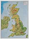 Relief Großbritanien 1:400.000  mit Aluminiumrahmen