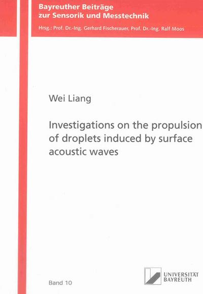 Investigations on the propulsion of droplets induced by surface acoustic waves