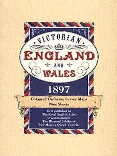 Victorian England and Wales 1897 Coloured Ordnance Survey Maps: All Nine Map Sheets: Slipcased