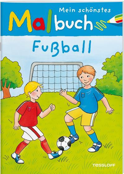 Mein schönstes Malbuch Fußball; Malbücher und -blöcke; Ill. v. Beurenmeister, Corina; Deutsch; s/w