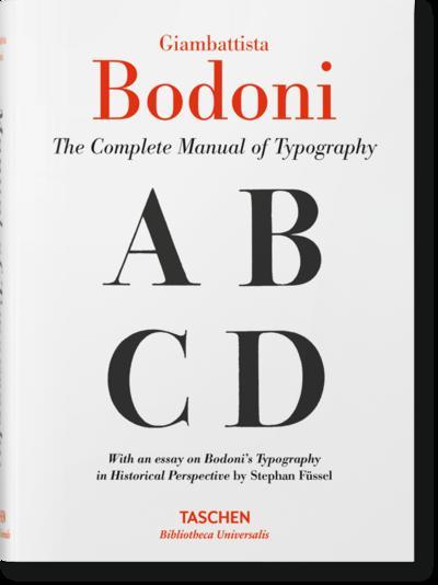 Giambattista Bodoni. Handbuch der Typografie; .