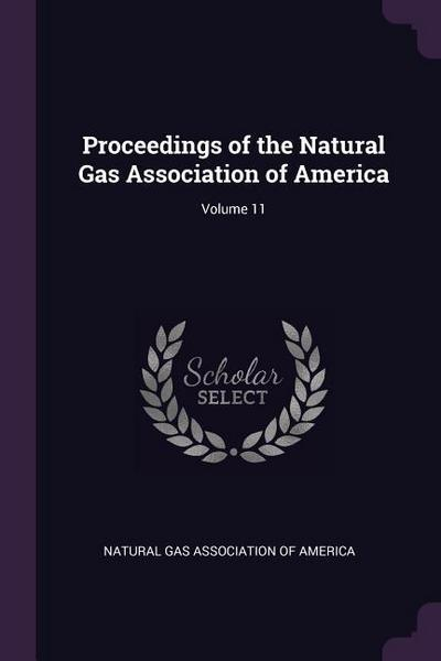Proceedings of the Natural Gas Association of America; Volume 11