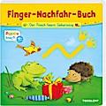 Der Frosch feiert Geburtstag; Ein Finger-Nachfahr-Spaß mit lustigen Reimen; Bilderbuch ab 18 Monate; Ill. v. Fritz, Johanna; Deutsch; farb. illustriert