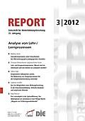 REPORT 03/2012 - Analyse von Lehr-/Lernprozessen - Philipp Gonon