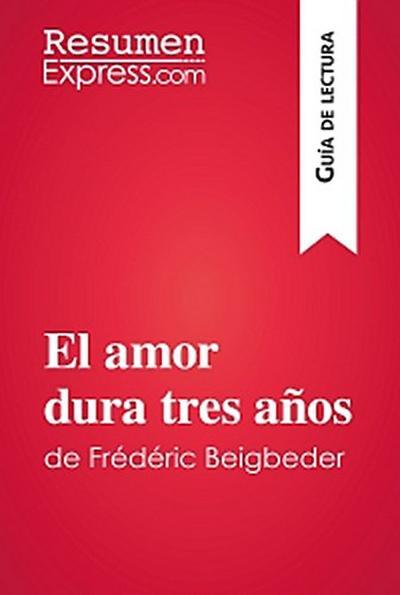 El amor dura tres años de Frédéric Beigbeder (Guía de lectura)