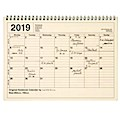 MARK'S 2019 Tischkalender M // Ivory