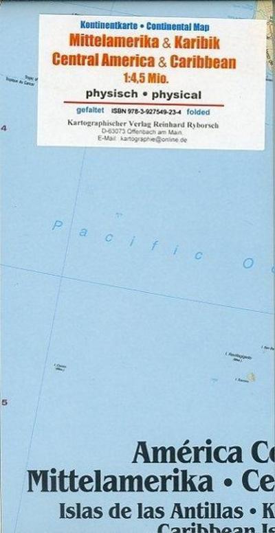 Mittelamerika / Karibik 1 : 4 500 000 Kontinentkarte