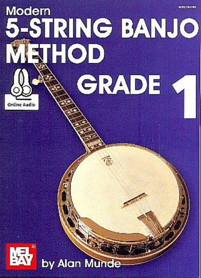 5-String Banjo Method Grade 1 (+Online Audio Access) :for banjo in tablature