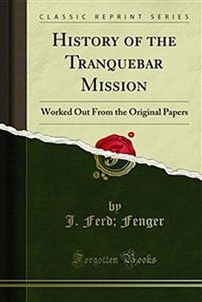 History of the Tranquebar Mission
