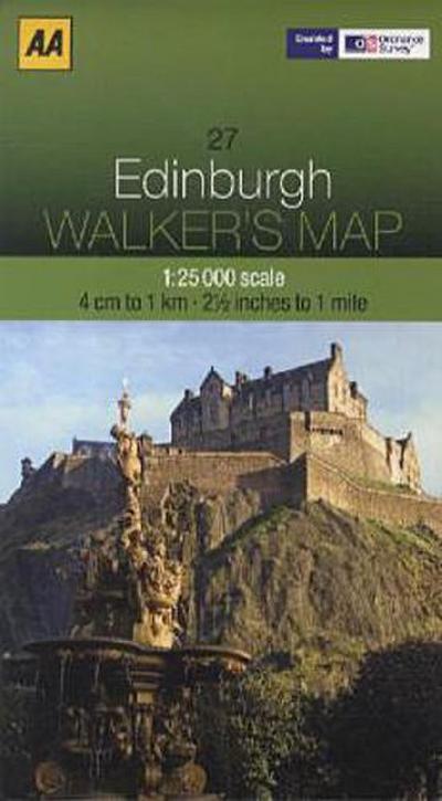 Walker's Map 27 Edinburgh 1 : 25 000