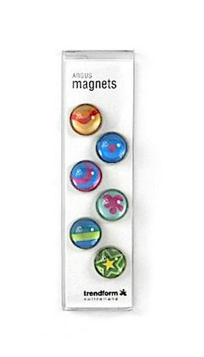 Magnetknopf ARGUS 6er Set assortiert