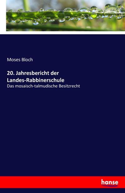 20. Jahresbericht der Landes-Rabbinerschule