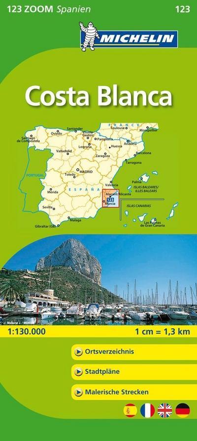 Costa Blanca (Michelin Zoomkarte)