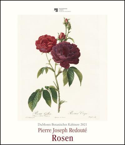 DuMonts Botanisches Kabinett - Rosen von P.J. Redouté - Kunstkalender 2021 - Wandkalender im Hochformat 34,5 x 40 cm