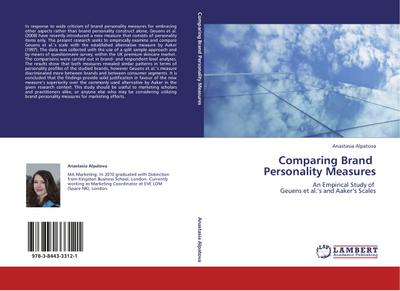 Comparing Brand   Personality Measures
