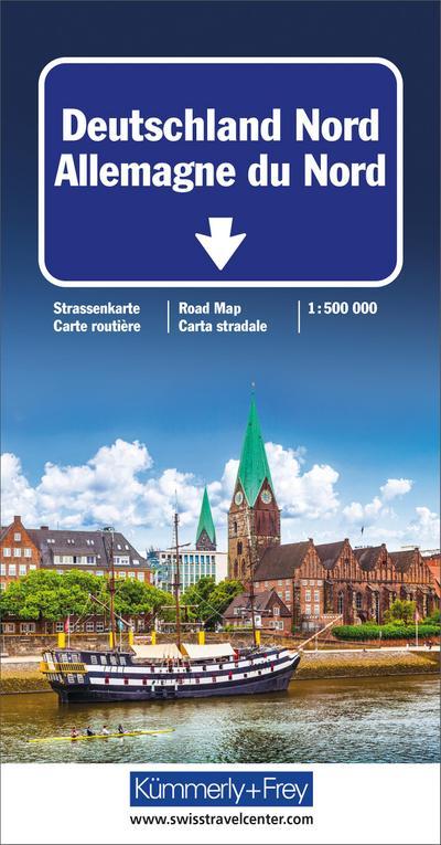 KuF Deutschland Straßenkarte Nord 1 : 500 000