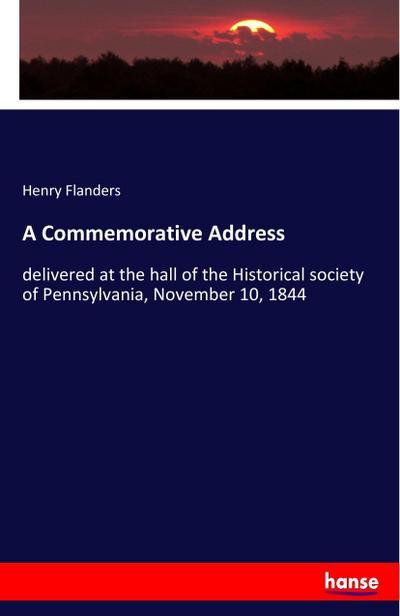 A Commemorative Address