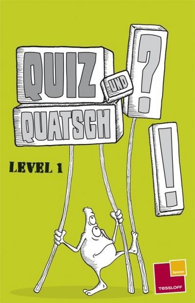 Quiz und Quatsch. Level 1; Rätsel, Spaß, Spiele; Ill. v. Schwarz, Thies/Oßwald, Thomas; Deutsch; schw.-w.