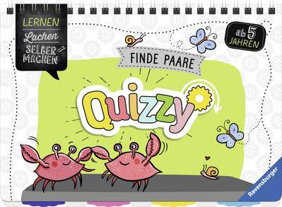Quizzy: Finde Paare; Lernen Lachen Selbermachen; Ill. v. Eimer, Petra; Mitwirkung v. Walch, Helmut; Deutsch; durchg. farb. Ill., Lösungssystem von Helmut Walch