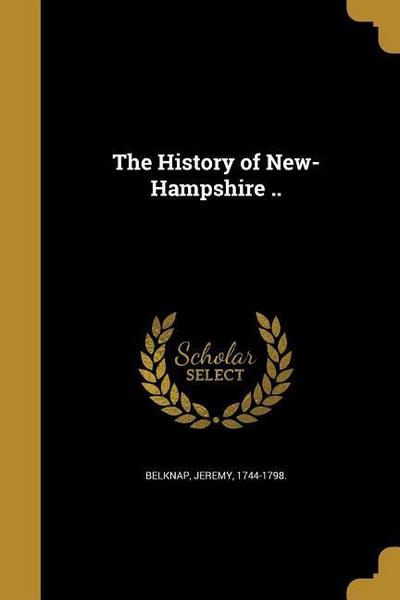 HIST OF NEW-HAMPSHIRE